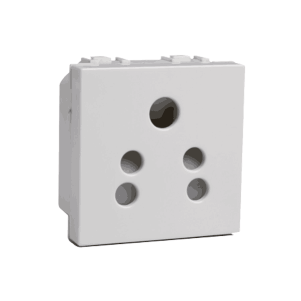 Havells Modular Coral 6A 5 Pin Shuttered Socket AHLKPXW065