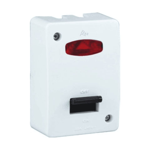 Havells Reo Surface 32A DP Switch with Fuse - AHEUDIW321