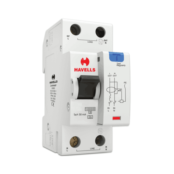 Havells RCBO - A Type (SPN – 2M) 30mA
