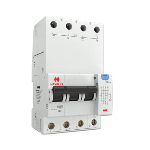 Havells RCBO - A Type (TPN – 4M) 30mA