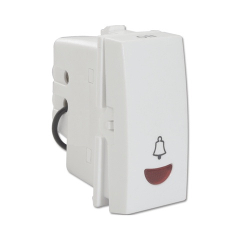Havells Standard Ivy 6A 1 Way Bell Push Switch with Indicator ASYSBIW061