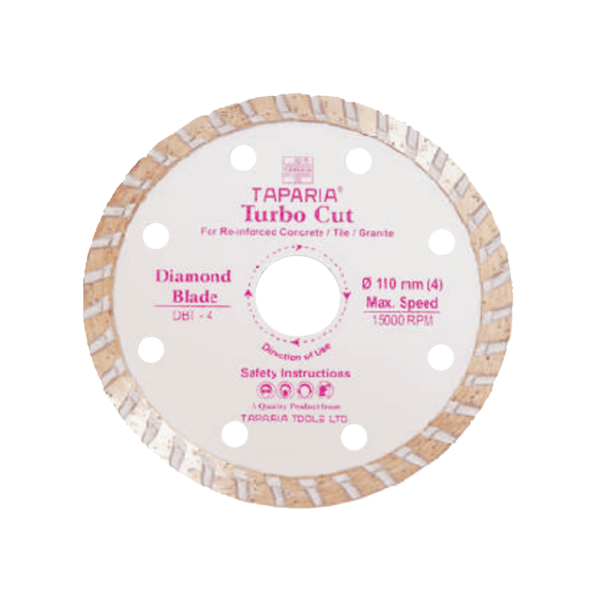 Taparia Diamond Cutting Blade Turbo Cut 110 mm – DBT-4
