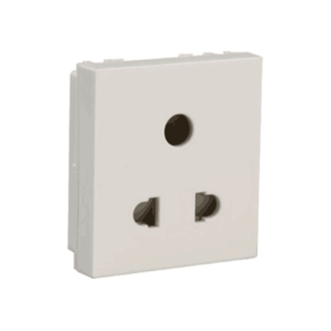 Havells Modular Oro 6A 3 Pin Shuttered Socket AHOKPXW063