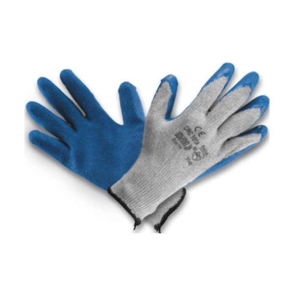 Udyogi Poly-Cotton Knitted Gloves with Latex Coating CRC-1010 A