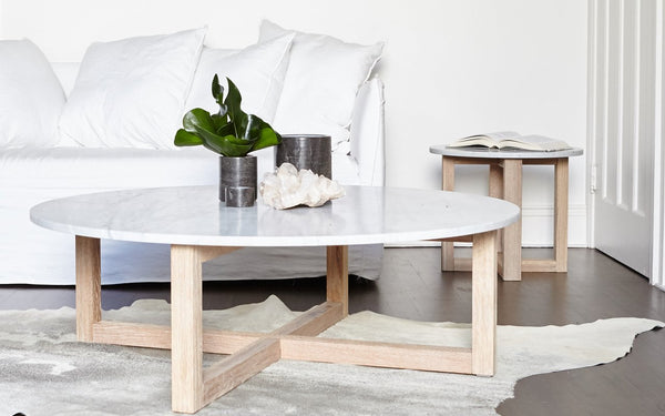 Totem Road Sustainable Marble Coffee Table