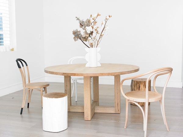 Totem Road Sustainable Solid Oak Round Dining Table