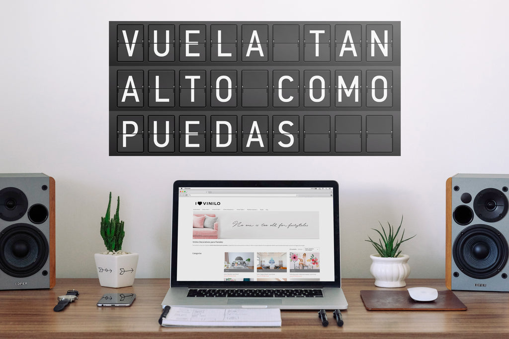 "Vinilo Decorativo ""Vuela tan alto como puedas"" para Pared"
