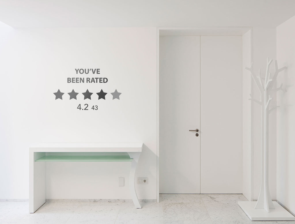 "Vinilo ""Black mirror rated"" para Pared"