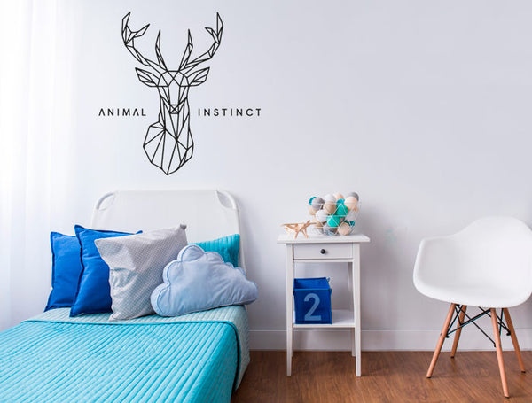 Vinilo Decorativo Animal Instinct Ciervo para Pared