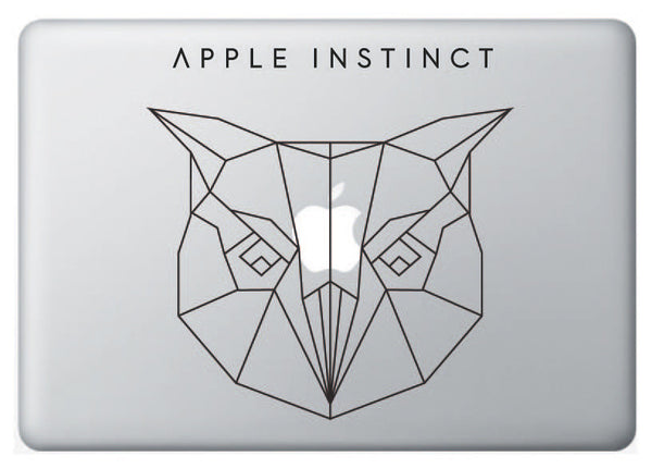 Vinilo Apple Instinct Búho para Macbook