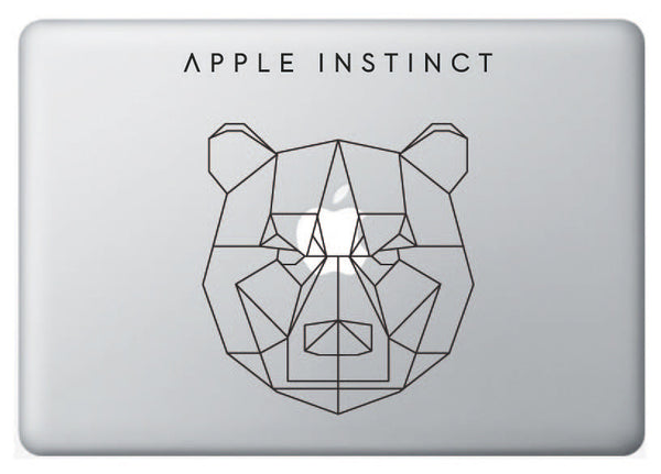Vinilo Apple Instinct Oso para Macbook