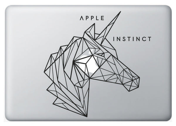 Vinilo Apple Instinct Unicornio para Macbook