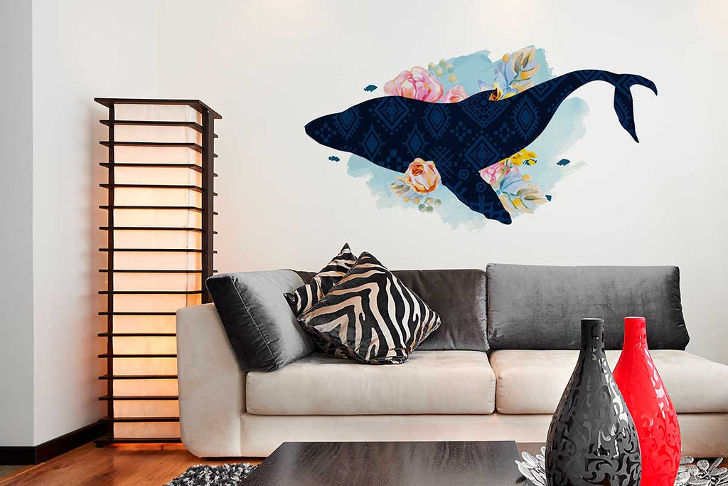 "Vinilo Decorativo ""Watercolor Whale"" para Pared"