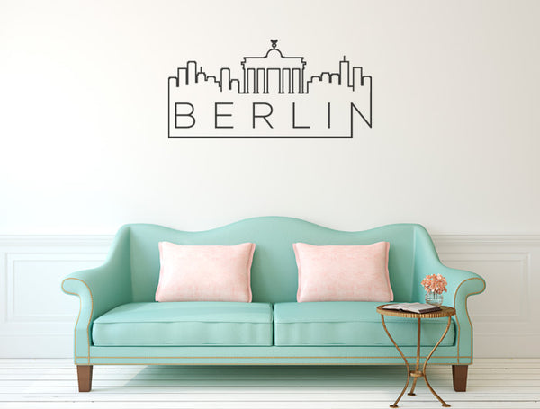 Vinilo Decorativo Skyline Berlín para Pared