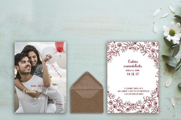 "Invitación de Boda ""Save the date"" desde"