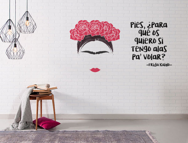 "Vinilo Decorativo ""Frida Kahlo"" para Pared"