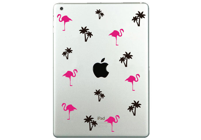 Vinilo Flamingo&Palms para iPad