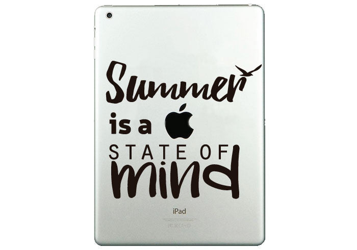 "Vinilo ""Summer is a state of mind"" para iPad"