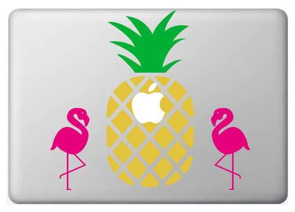 Vinilo decorativo Piña&Flamingo para Macbook