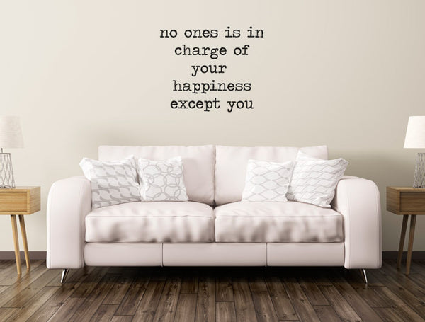 "Vinilo Decorativo ""No ones except you"" para Pared"