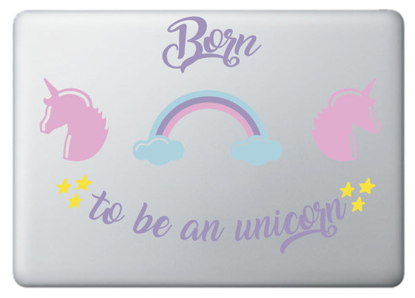 "Vinilo decorativo ""Born to be a Unicorn"" para Portátil"