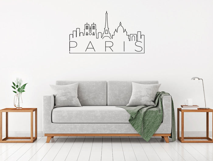 Vinilo Decorativo Skyline París para Pared