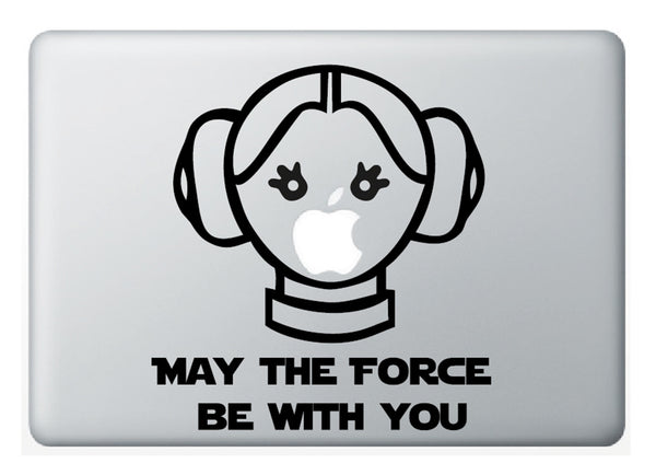 "Vinilo ""Princess Leia forever"" para Macbook"
