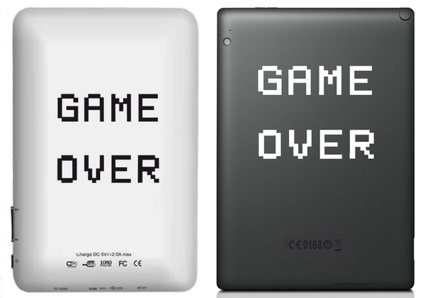 Vinilo Game Over para Tablet
