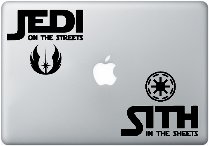 Vinilo Jedi VS Sith para MacBook