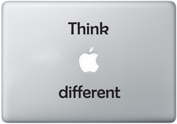 Vinilo Think Different para MacBook