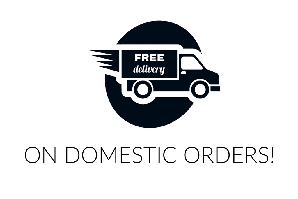 Free delivery on all domestic orders!