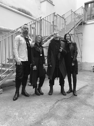 Knut and Maia together with Leo and Dario from La Haine Inside Us