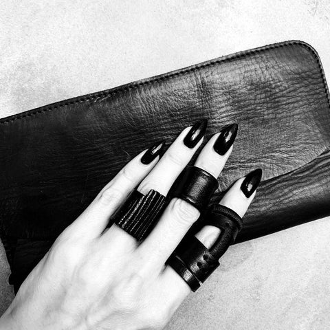 Leather rings and wallet from Julia Fom