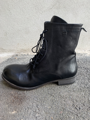 Long leather boots