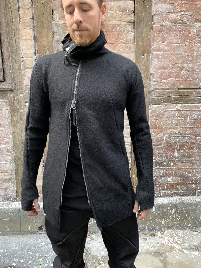 Distortion zipped turtle neck jacket