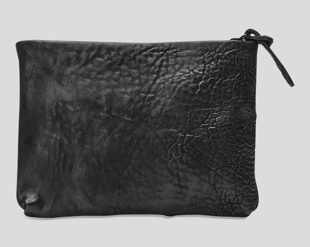 Horse leather zip wallet