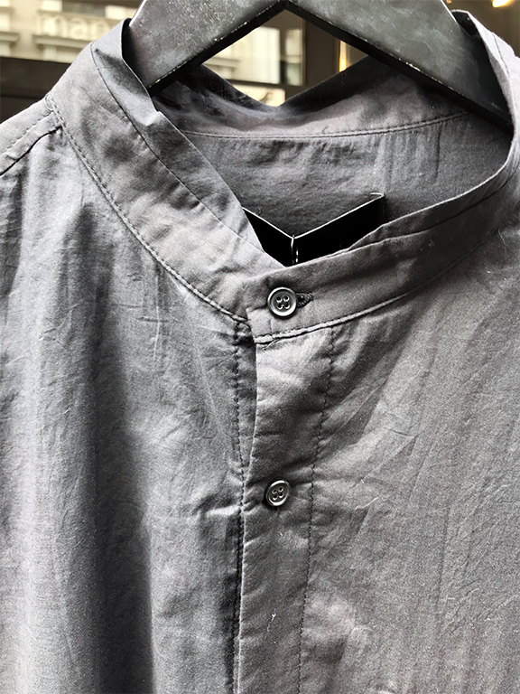 Mandarin collar light woven shirt