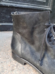 Sne waxed suede leather boots