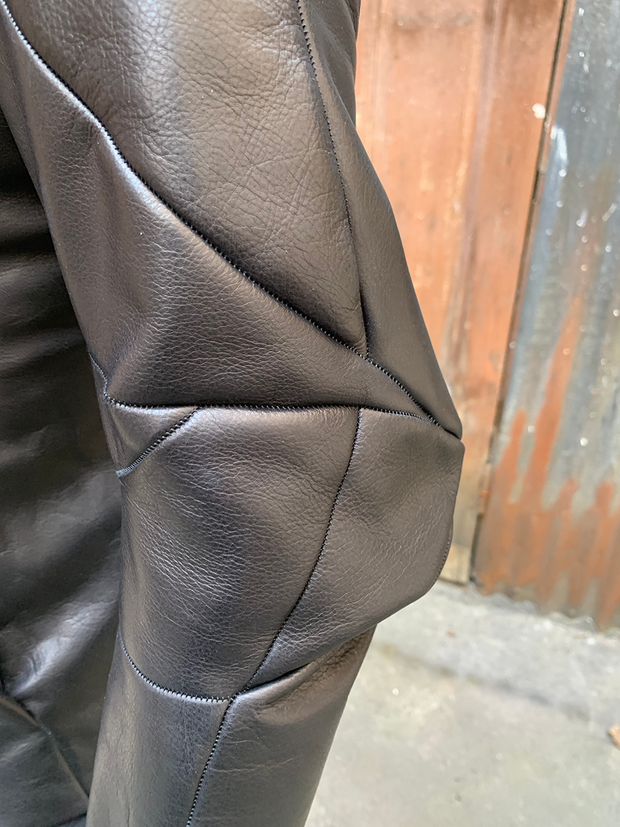 Distortion Calf leather jacket