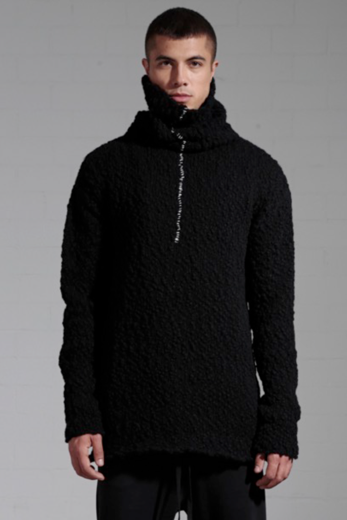 High neck wool sweater