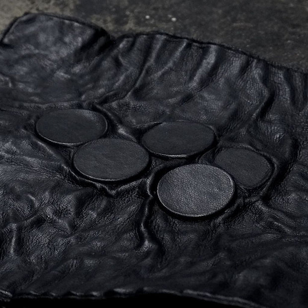 Lead in coin leather tray