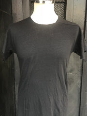 Distortion curved lucent linen tee