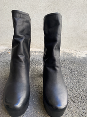Dienne leather plateau boots