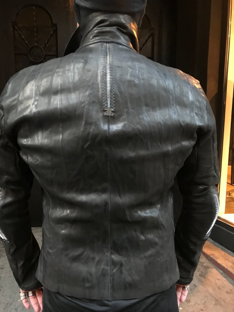 Imparable crasse-pouille leather jacket