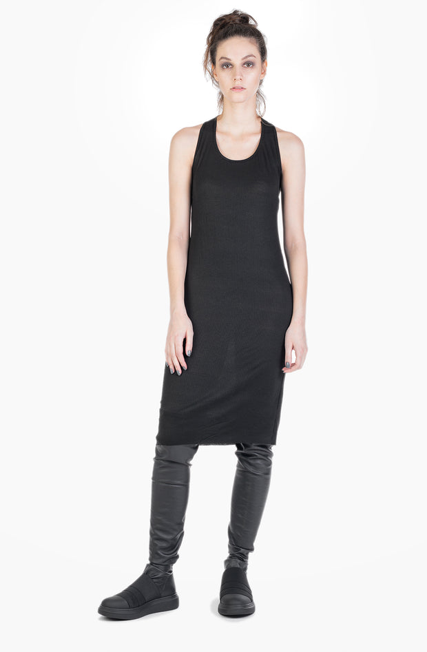 Malvia jersey rib slip dress