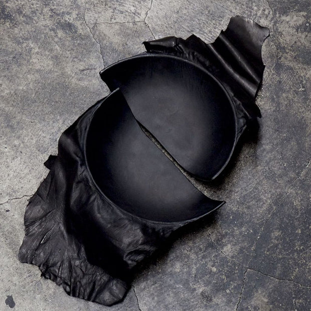 Broken leather dish
