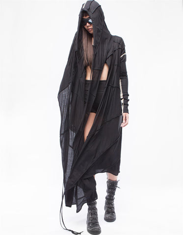 Beyond long hooded cardigan