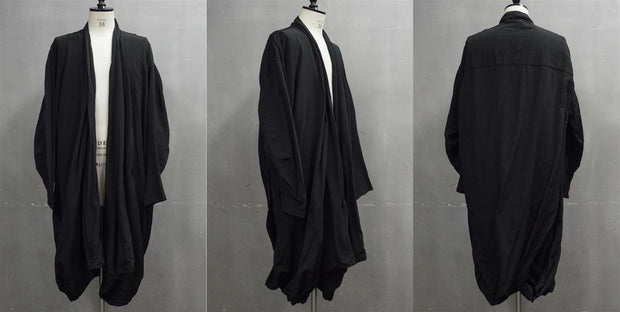 Julius Draped cupro coat