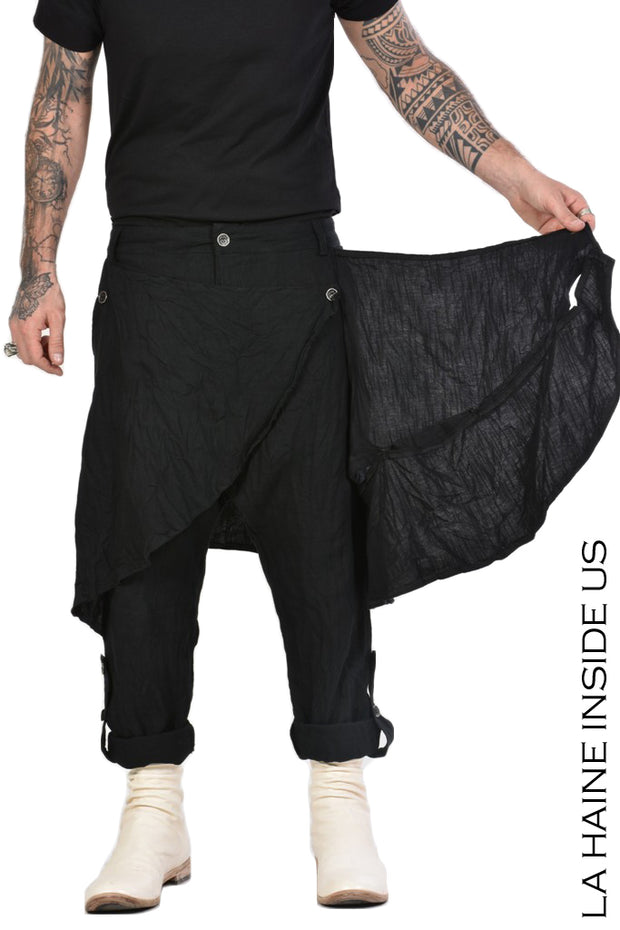 Delirio drop crotch trousers