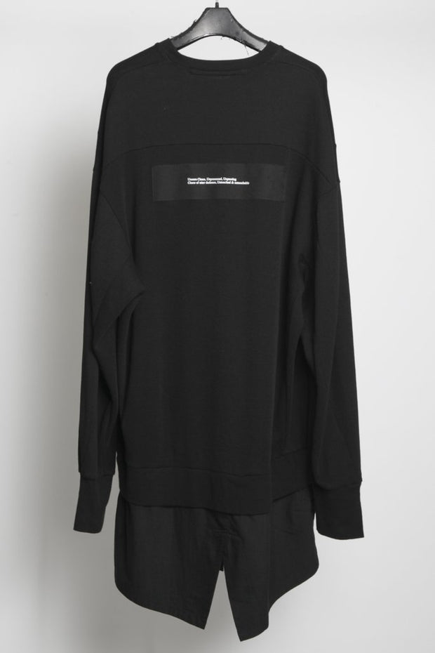 JULIUS Double layered split sweater
